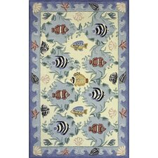 Coastal Blue Novelty Rug