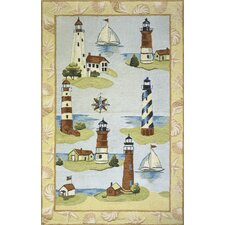Coastal Assorted Lighthouse Novelty Rug