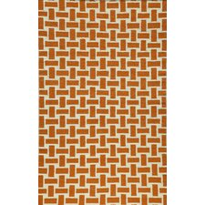 Laguna Orange Geometric Rug