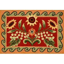 Tuscan Sunflower and Poppy Rug