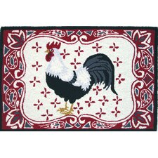 Accents Kitchen Bandana Rooster Novelty Rug