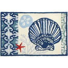 Italian Tile With Clam Shell Rug
