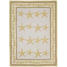 Waterfront Starfish Toss Novelty Rug