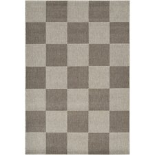 Elements Dark Gray/Light Gray Checkered Rug