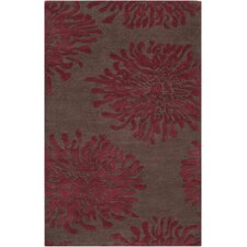 Bombay Chocolate/Red Rug