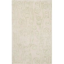 Escape White Leaf Rug