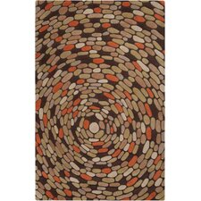 Pebble Beach Golden Brown Rug
