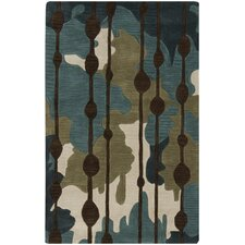 Lava Slate Blue/Palm Green Rug