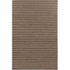 Ravena Espresso/Dark Taupe Striped Rug