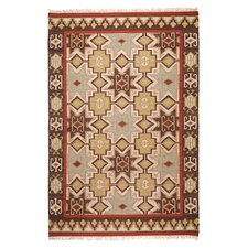 Jewel Tone II Chocolate/Beige Rug