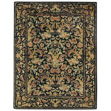 Garden Farms Black Floral Rug