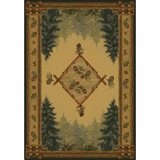 Genesis Forest Trail Lodge Novelty Rug