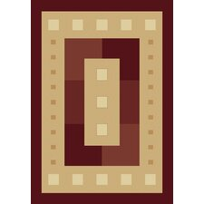 Manhattan Times Square Burgundy Rug