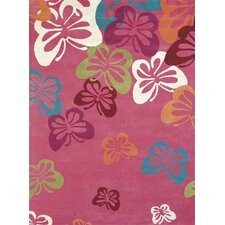Fantasia Fan Girls Light Pink Kids Rug