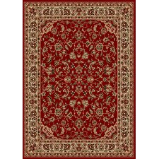 Como Bordered Vines Red Rug