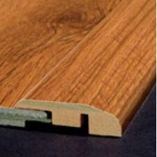 Laminate Reducer Strip with Track in Pecan Natural
