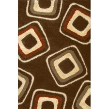 Miracle Brown and Terracotta Nucleus Rug