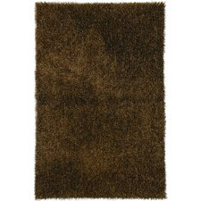 Flux Wood Brown Shag Rug