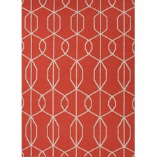 Maroc Orange/Red Geometric Rug
