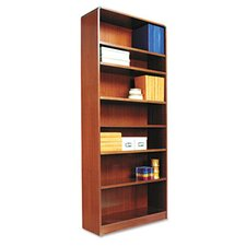 Radius Corner Bookcase, Finished Back, Wood Veneer, 7-Shelf, 36x12x84, Cherry