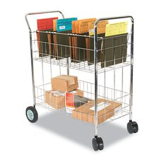 Wire Mail Cart in Chrome