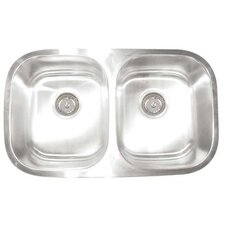 Premium Series D Double Equal Undermount Kitchen Sink
