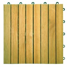 "Plantation Teak 11"" x 11"" Interlocking Deck Tiles"