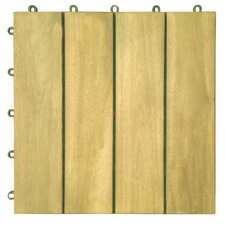 "Plantation Teak 12"" x 12"" Interlocking Deck Tiles"