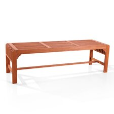 Backless Wood Three Seater Picnic Bench