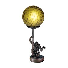 Monkey with Round Ball 1 Light Table Lamp