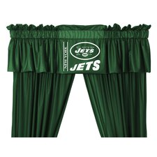 NFL Rod Pocket Tailored Curtain Valance