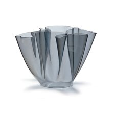 Cartoccio Glass Vase in Grey