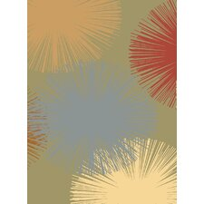 Torino Light Green Fireworks Rug