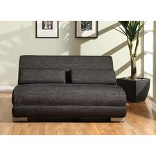 Yale Microfiber Convertible Sofa in Black