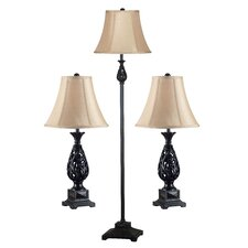 Prescott Table Lamp and Floor Lamp Set