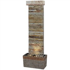 Tacora Natural Slate Horizontal Floor Fountain