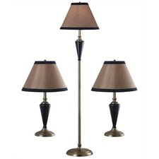 Hunley Table Lamp and Floor Lamp Set