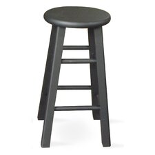"24"" Roundtop Counter Stool (Black)"