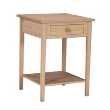 Unfinished Hampton 1 Drawer Nightstand