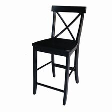 Dining Essentials X-Back Counter Height Stool