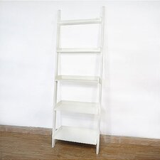 Casual Dining 5 - Tier Leaning Shelf  in White