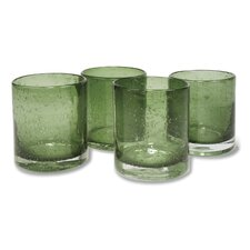 Iris Double Old Fashioned Glass in Sage (Set of 4)