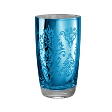 Brocade Highball Glass in Blue (Set of 4)