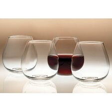 Sommelier Round Stemless Glass (Set of 4)