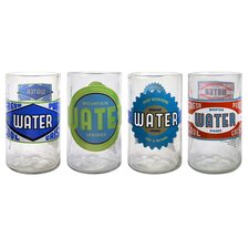 Upcycle Spring Water Juice Glass (Set of 4)