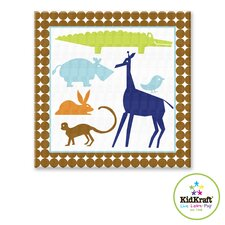 Boy Animals Canvas