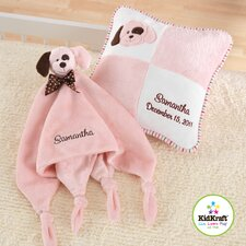 Puppy Pillow and Cuddle Blanket Set