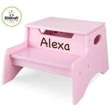 Personalized Step N' Store Stool in Pink