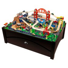 Metropolis Train Set on Table with Trundle