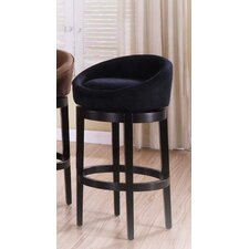 Igloo Microfiber Swivel Barstool in Black